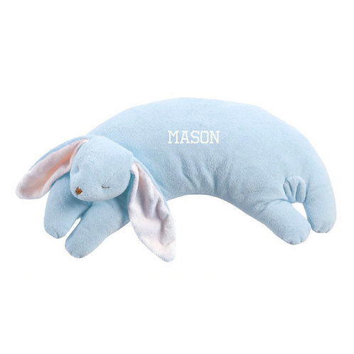 Angel Dear Personalized Blue bunny curved stuffed animal