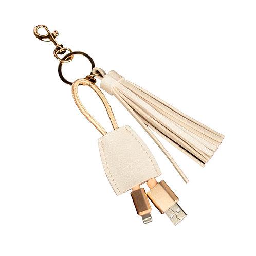 Leather Power Keychain