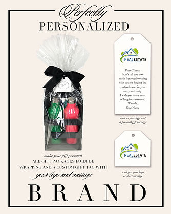 real estate branding on gift packages