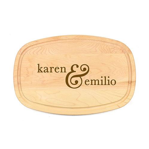Personalized Maple Oval Board-08