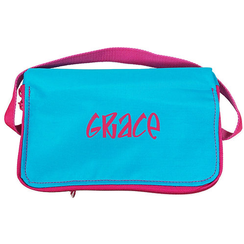 OH Mint Personalized Lunch Box-Aqua Pink
