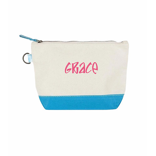 Personalized Cosmetic Bags  and 1 color embroidery
