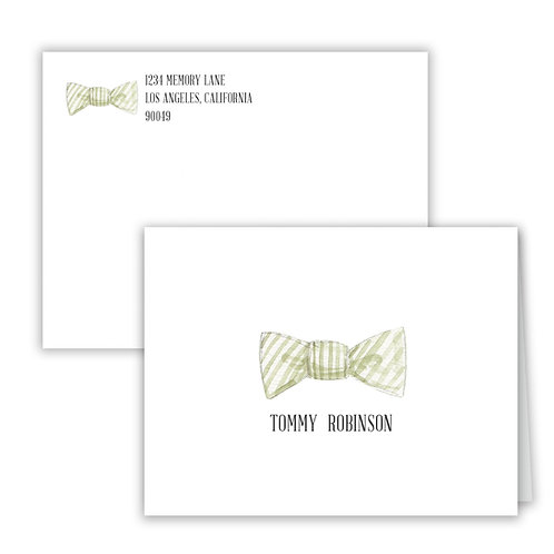 Personalized Notecards - Bow Tie