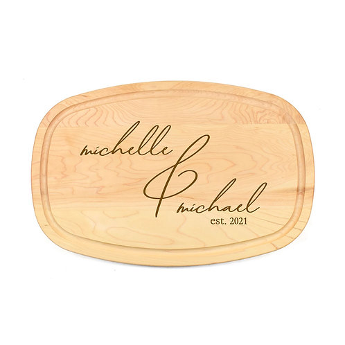 Personalized Maple Oval Board-13