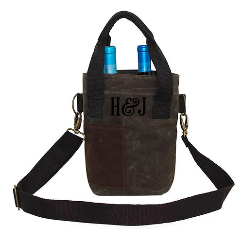 Personalized Wine Bottle Tote