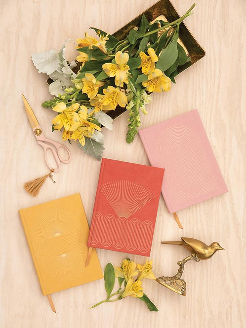 Radiant Suns Suede Cloth Journal