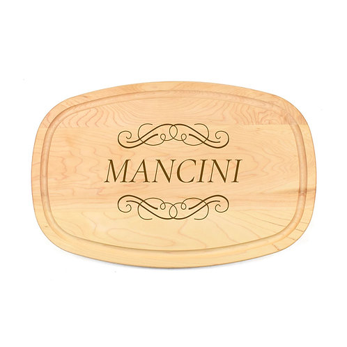 Personalized Maple Oval Board-14