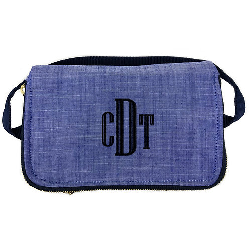 OH Mint Personalized Lunch Box-Navy Chambray