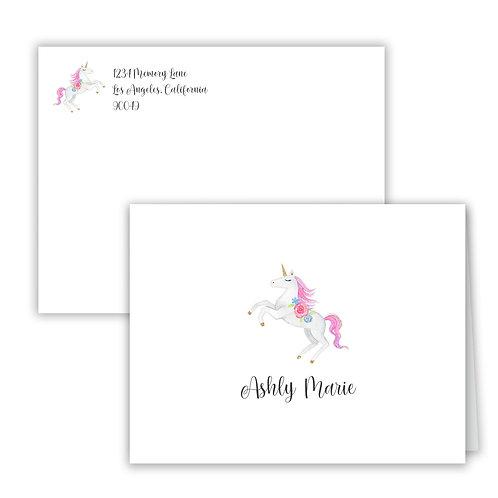 Personalized Notecards - Unicorn