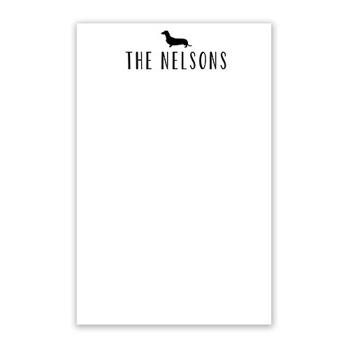 Pet Silhouette Notepad