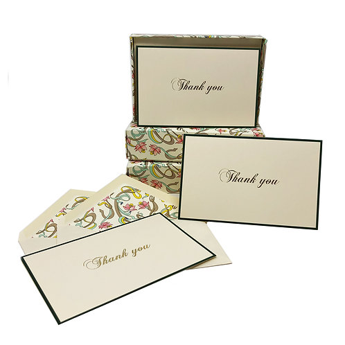 Thank you Boxed Note Cards-Pink Flowers
