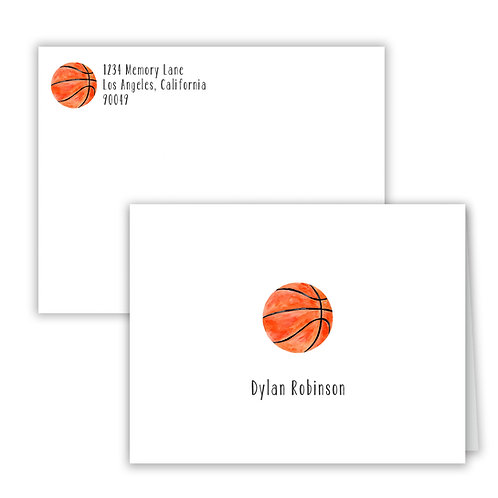Personalized Notecards - Basketball
