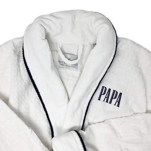 Personalized  Robe with Navy Piping