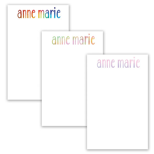Rainbow Personalized Notepad