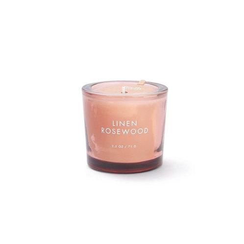 Linen Rosewood Votive Candle