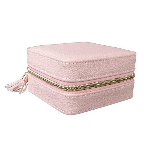 Leah Travel Jewelry Case - Blush