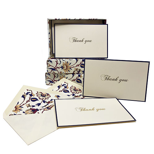 Thank you Boxed Note Cards- Red/Blue