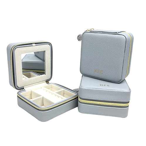 Leah Travel Jewelry Case - Gray