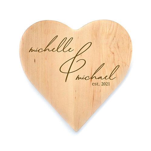 Personalized Maple Heart Board-002