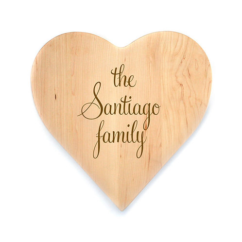 Personalized Maple Heart Board-004