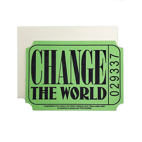 Change the World grad card