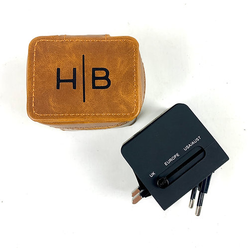 Travel Adapter Leather Charger
