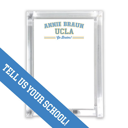 Personalized College Notepad with Holder