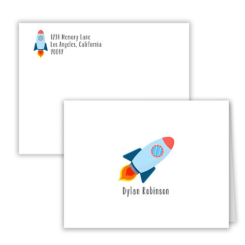 Personalized Notecards - Rocket