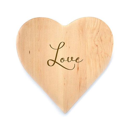 Love Maple Heart Board
