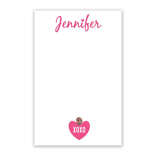 Hearts & Pets Notepad