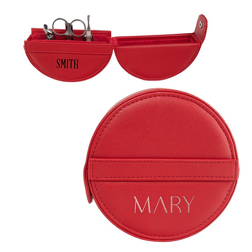 Round Manicure Set - Red
