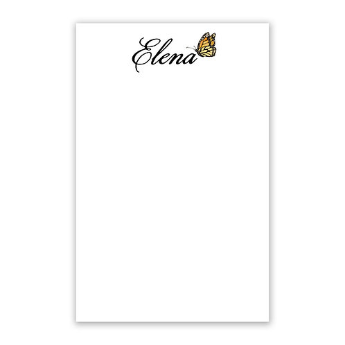 Monarch Butterfly Personalized Notepad