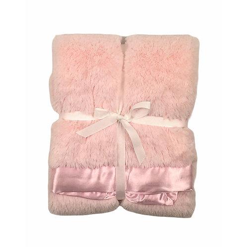 Personalized Faux Fur/Satin Blanket