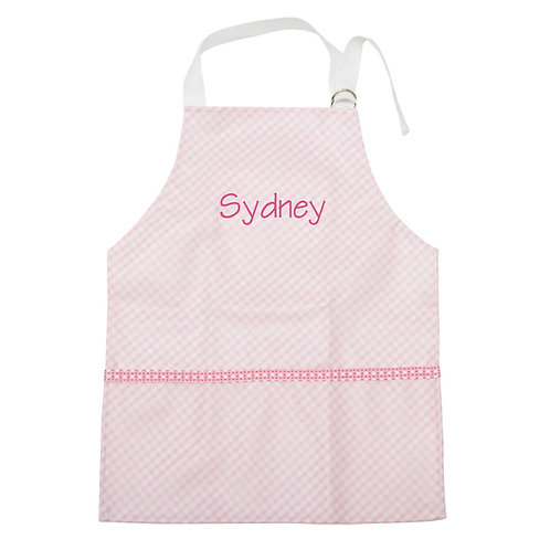 Personalized Toddler Smock- Pink Check