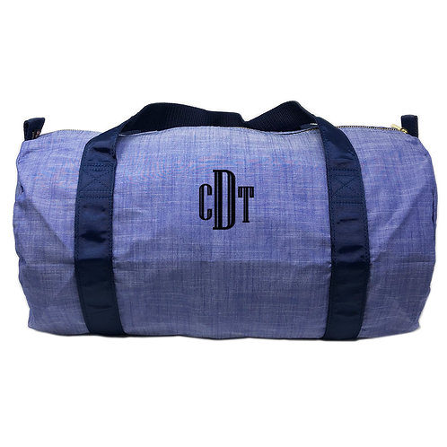 Navy Chambray Duffel Bag