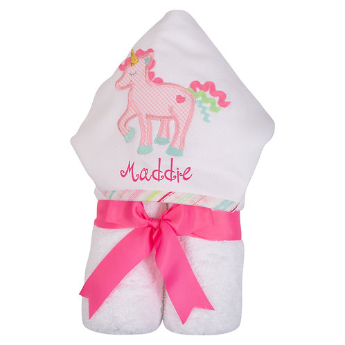 Personalized Big Kid Hooded Towel- Unicorn