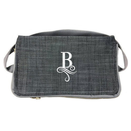 OH Mint Personalized Lunch Box-Grey Chambray