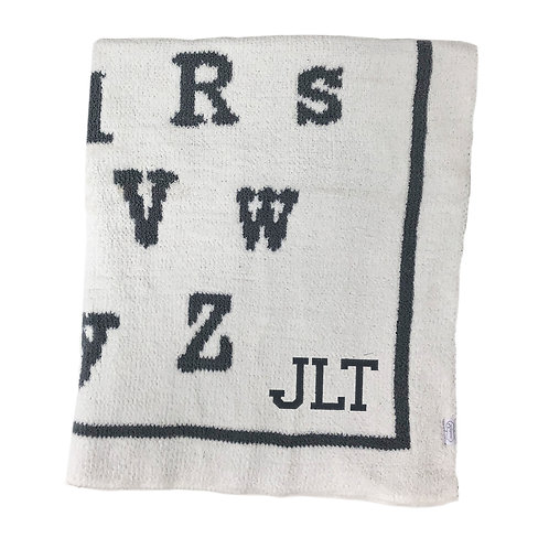 Personalized Chenille Blanket