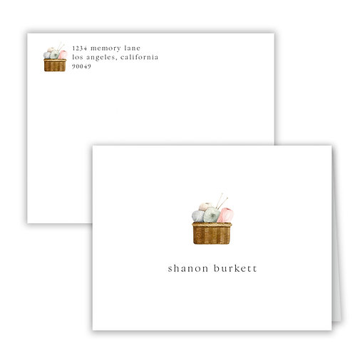 Personalized Notecards - Sewing