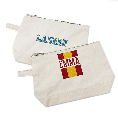 University Themed Cosmetic Bags