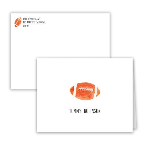 Personalized Notecards - Football
