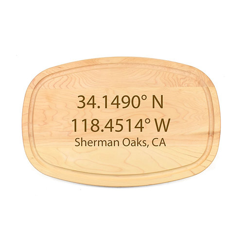 Personalized Maple Oval Board-11
