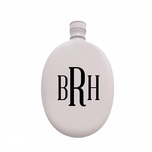 Personalized White Flask
