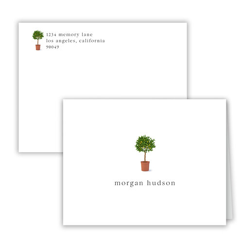 Personalized Notecards - Garden
