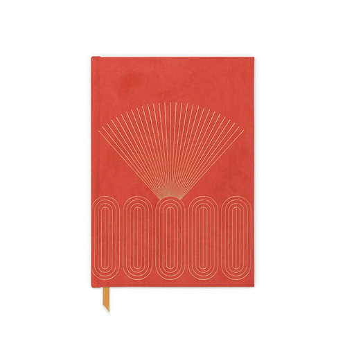 Radiant Rays Suede Cloth Journal