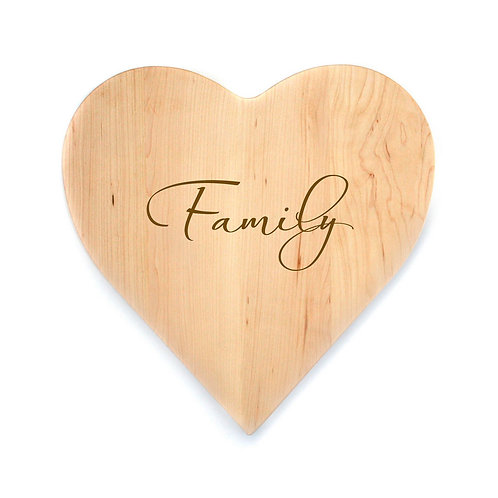 Family Maple Heart Board