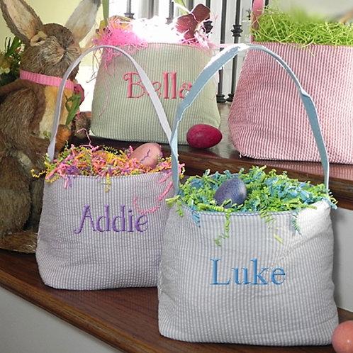 Seersucker Easter Baskets