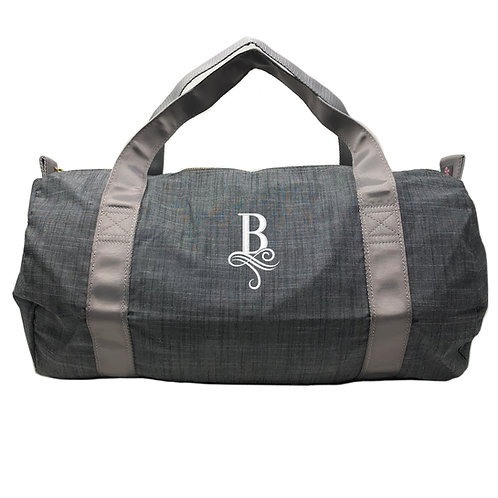 Personalized Oh Mint Medium Duffle Bag-Grey Chambray
