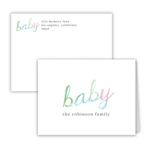 Personalized Notecards - Baby