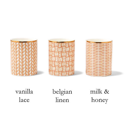 Personalized Rattan Weave Scented Candle
